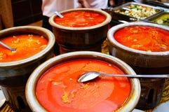 鲜美咖喱的马来语 库存照片
