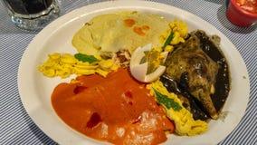 鲜美墨西哥美食在尤加坦,梅里达 免版税库存图片