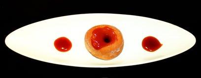 鲜美多福饼的果酱 免版税图库摄影