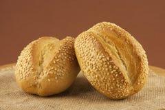 鲜美小圆面包 免版税库存照片