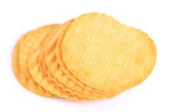 鲜美山脊土豆片 免版税库存照片