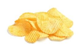 鲜美山脊土豆片 免版税图库摄影