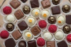 鲜美巧克力点心 库存图片