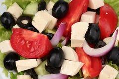鲜美希腊沙拉 免版税图库摄影