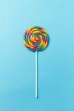 鲜美开胃在B的党辅助甜漩涡糖果Lollypop 免版税库存照片
