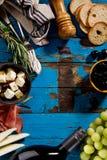 鲜美开胃意大利地中海希腊食品成分Wi 库存照片