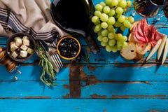 鲜美开胃意大利地中海希腊食品成分Wi 库存图片