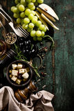 鲜美开胃意大利地中海食品成分舱内甲板位置 免版税图库摄影