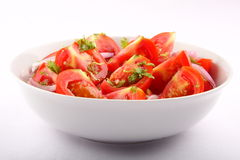 鲜美开胃菜新鲜的蕃茄沙拉 免版税图库摄影