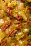 鲜美意大利的膳食 免版税图库摄影