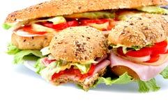 鲜美新鲜的三明治 免版税库存图片