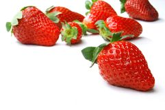 鲜美新鲜的草莓 免版税库存照片