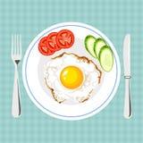 鲜美早餐的传染媒介五颜六色的例证 免版税库存图片