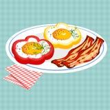 鲜美早餐的传染媒介五颜六色的例证 库存图片