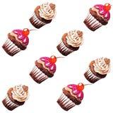 鲜美杯形蛋糕的样式 免版税库存照片
