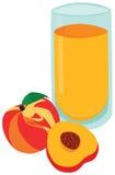 鲜美杯桃子汁 库存例证