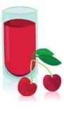 鲜美杯樱桃汁 库存例证
