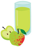 鲜美杯苹果汁 向量例证