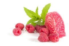 鲜美果冻糖果用莓 库存照片