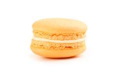 鲜美橙色macaron 免版税库存照片
