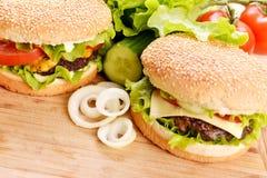 鲜美汉堡包 图库摄影