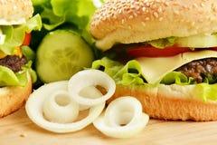 鲜美汉堡包 免版税库存照片