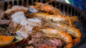 鲜美混合烤海鲜自助餐 免版税图库摄影