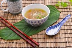 鲜美清淡的大酱汤非常 库存照片