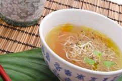鲜美清淡的大酱汤非常 免版税库存图片