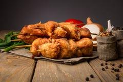 鲜美烤肉的鸡 免版税库存照片