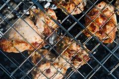 鲜美烤肉的鸡 库存照片