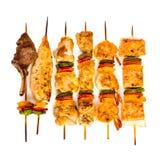 鲜美烤kebab肉的shish 库存图片