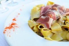 鲜美的意大利面食 库存图片