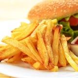 鲜美的汉堡包 库存图片