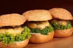 鲜美的汉堡 免版税库存照片
