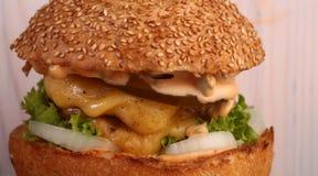 鲜美的汉堡 库存图片