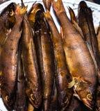 鲜美的纤巧-,熏制的鱼在家 免版税图库摄影