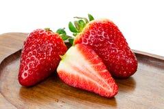 鲜美的草莓 免版税库存图片