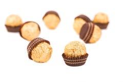 鲜美糖果的巧克力 免版税库存图片