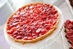 鲜美草莓蛋糕细节  图库摄影