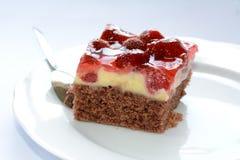 鲜美草莓蛋糕 库存图片