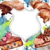 鲜美蛋糕和小圆面包甜点心 r E 皇族释放例证