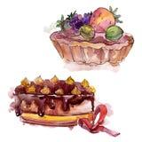 鲜美蛋糕用果子甜点心 r 被隔绝的点心例证元素 皇族释放例证