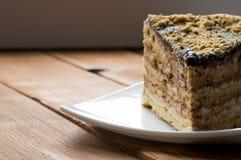 鲜美蛋糕的巧克力 免版税库存照片