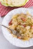 鲜美被炖的圆白菜菜 免版税库存图片