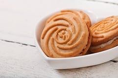 鲜美被烘烤的曲奇饼 免版税库存图片