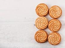 鲜美被烘烤的曲奇饼 库存图片