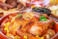 鲜美被烘烤的火鸡 免版税库存图片