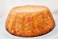 鲜美被烘烤的素食主义者米炸弹软的焦点用米和南瓜-意大利传统食谱 免版税库存照片