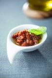 鲜美辣意大利蕃茄根据调味汁 库存照片